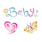 Stencil-Baby 15 x 20 cm