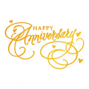 Ultimate Crafts Happy Anniversary Hotfoil Stamp, Metal, Grey, 22.8 x 9.8 x 0.7 cm