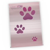 CraftStar Dog Paw Print Stencil - Set of 3 Sizes of Dog Paw Print Stencil Templates