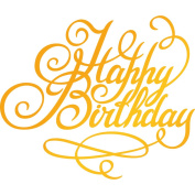 Ultimate Crafts Happy Birthday Hotfoil Stamp, Metal, Grey, 22.8 x 9.8 x 0.7 cm
