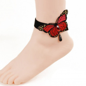 Butterfly Beach seaside foot ring accessories section- Butterfly Ankle Ring Foot Sandal Beach Wedding Ankle Bracelet Women Girls Anklet Bracelet