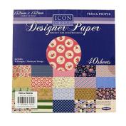 Icon Craft, Designer Paper - Prim and Proper, 20 Designs, 2 Sheets per Design, Size 152mm Square
