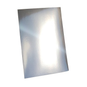 20 Sheets Metallic A4 Silver Card Minimum 280gsm