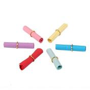 Approx.50pcs Wishing Paper Scrolls for Crafts 6 x 2.5cm Random Colour