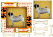 Cute Pug card front by Sharon Poore