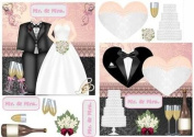 2 Mr and Mrs Wedding Card Fronts by Sharon Poore