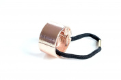 Rose Gold Metal Circle Ring Hair Cuff Wrap Ponytail Holder Band Accessories