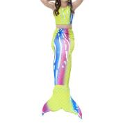 Haodasi Girls Printed Swimming Bathing Suit 3 Pcs Mermaid Tail Swimwear COS Sea-Maid