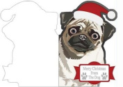 Merry Christmas from the Pug Cut'n'fold Card by Jennie Le Guen