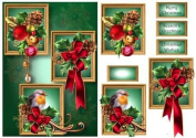Frame Trio Christmas - Baubles & Bow by Anne Lever