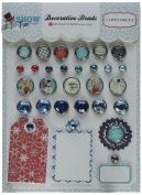 Carta Bella Paper Company CBSF59020 Snow Fun Decorative Brads