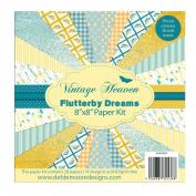 Debbi Moore Designs ~ Vintage Heaven Flutterby Dreams Paper Kit 8