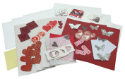 6 Card making kit with embellishments and envelopes
