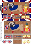 Pug life I love London window card front 2 by Sharon Poore