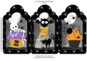 Halloween cupcakes tri fold card by Sharon Poore