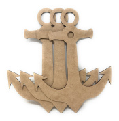 30cm Wooden Anchor Unfinished Wood Craft Anchors (Package of 3)