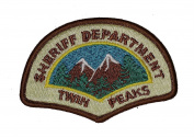J & C Family Owned Twin Peaks Shefiff's Department Embroidered Iron-on Patch