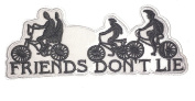 """Stranger things Cosplay """"Friends Dont Lie"""" Applique Patch"""