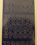 15mm Navy peel off numbers XL404U by craft creations