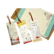 Sonline Cute Cartoon Lazy Stationery + 3Pcs x Bookmarks Set Random Colour