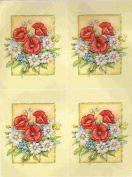 1 sheet poppy theme decoupage sheets, ideal for arts and crafts, card, invitations, framing, dolls houses and lots more etc