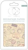 Craft Consortium Premium Decoupage Papers - Travel Stamps