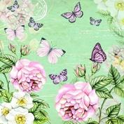 4 x Paper Napkins - Botanical Green - Ideal for Decoupage / Napkin Art