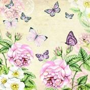 4 x Paper Napkins - Botanical Cream - Ideal for Decoupage / Napkin Art