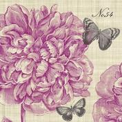 4 x Paper Napkins - Piedmont Peony - Ideal for Decoupage / Napkin Art