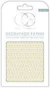Craft Consortium Premium Decoupage Papers - Gold Droplet