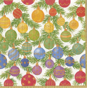 Ombre Christmas Baubles Entertaining with Caspari Paper Luncheon Napkin 20 in pack 33cm square