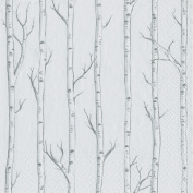 Birch Silver Birch Entertaining with Caspari Paper Luncheon Napkin 20 in pack 33cm square