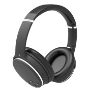 Headphones Bluetooth Noise Cancelling Active AXCEED Wireless Foldable Headset with Microphone Over-Ear Black
