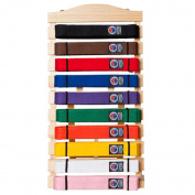 Martial Arts Belt Display Wall Rack Holder for Karate Taekwondo Belts