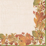 Autumn garland leaves Entertaining with Caspari Paper Luncheon Napkin 20 in pack 33cm square
