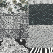 Decopatch Mixed Paper Packs For Decoupage - BLACK and WHITE
