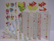 Tea for Two Floral Die Cut Decoupage with Cards and Env