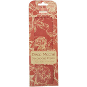 First Edition Deco Mache Decopage Papers - Red Roses