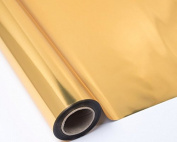 Polypropylene Cellophane Wrap Roll 70 cm x 50 m Silver Double Sided Silver/Gold