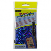 A5 UHU Holographic Metallic Transfer Foil Paper - Blue