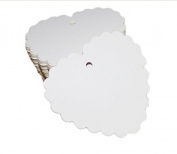 100PCS WHITE HEART SHAPE 6 X 5.5CM KRAFT PAPER HANG TAGS GIFT PRICE CARDS