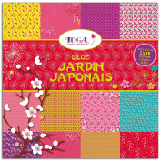 Toga Japanese Garden Paper Pad, 36 Sheets, 30.5 x 30.5 x 1 cm Multi-Coloured
