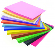 CI 648 Sheet Bumper Value Block of Construction Paper in 12 Colours, multicolour
