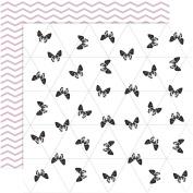 Design Paper, sheet 30,5x305cm, 180 g, Paris, 4sheets,