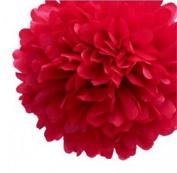 COFCO 10pcs Tissue Ball Paper Pom-pom Flowers Wedding Party Decoration, Red