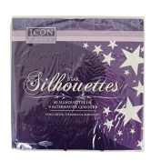 Star Card Silhouettes, 4 Colours, Pack of 60, by Icon Craft