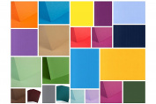 SPECIAL OFFER - 100 SHEETS OF A5 CARD STOCK IN A RANDOM COLOUR MIX - 240GSM