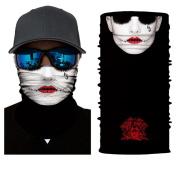 qiulv Multifunctional Headwear Headscarves Sport Yoga Headband Neck Gaiter Muffler Sweatband Scarf Bandana Balaclava Hairband Outdoors Headwrap Elastic Seamless UV