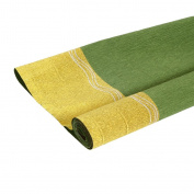 KRAFTZ® - Green and Gold Double Shade Crepe Paper Roll Top Quality 50cm wide X 2.5m long for Art & Craft, Decoration, Party Decor