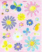 colour peel off craft mixed flowers peel offs sheet 16x12cm etc peel off stickers for crafts / card making etc